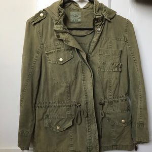 Zara Trafaluc Army Green Utility Jacket in size M